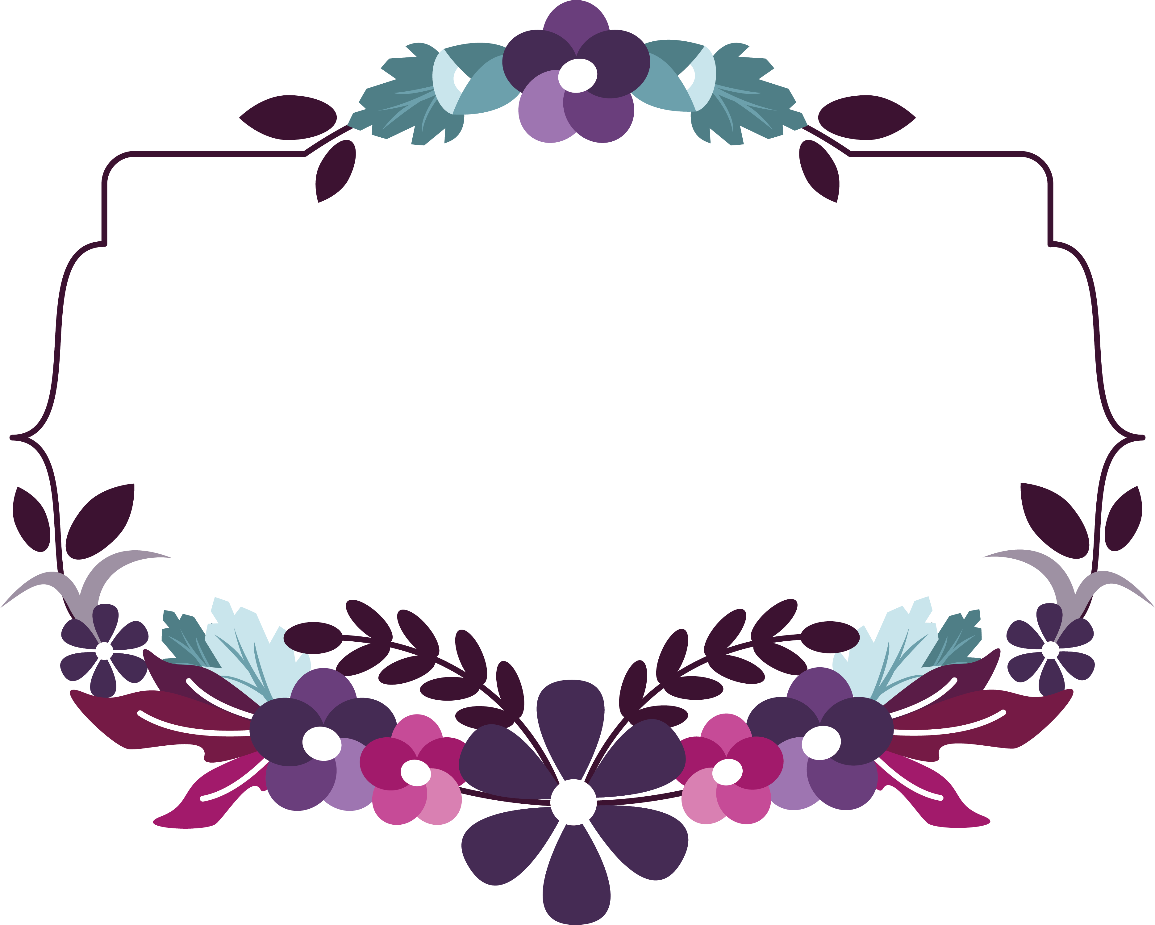 Pin By Owwa Wawa On Weddings Flower Logo Flower Border Flower Border Png