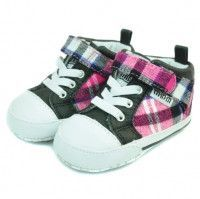 Me in Mind- Stockton High-Top Pink Plaid