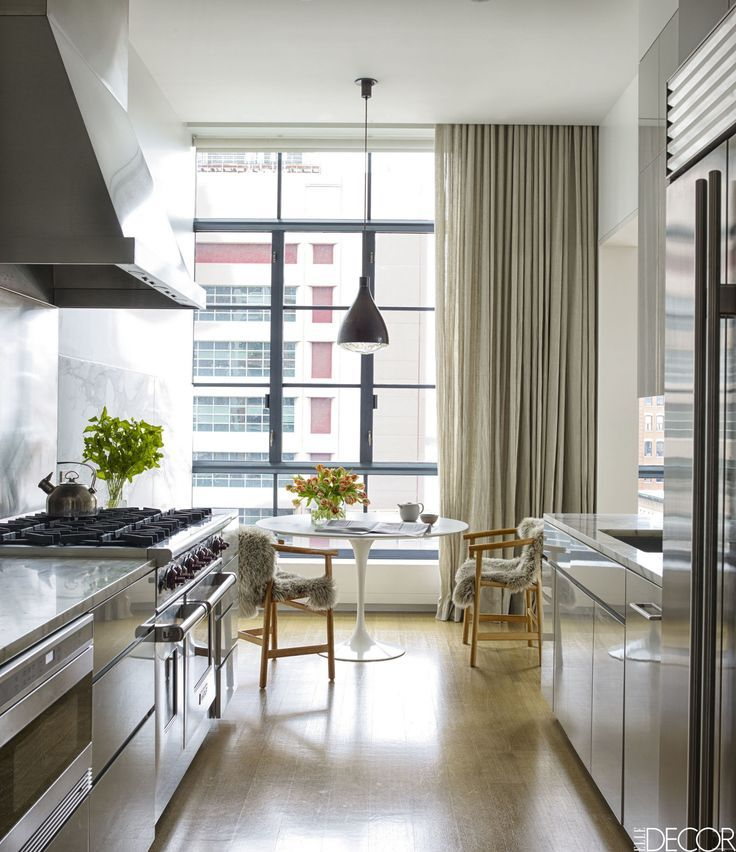 HOUSE TOUR: A Family Friendly Apartment That Embraces La Vie Bohème.  Casement WindowsLoft KitchenNew York ...