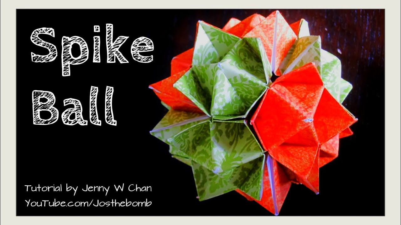 Photo of Origami Ball – How to Fold Origami Spiky Ball Cuboctahedron