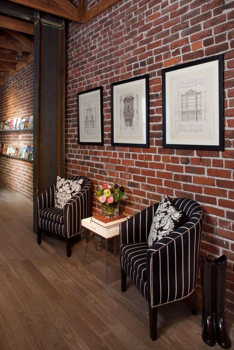 Studio Interior By Artistic Designs For Living Brick Interior Brick Wall Living Room Brick Wall Decor