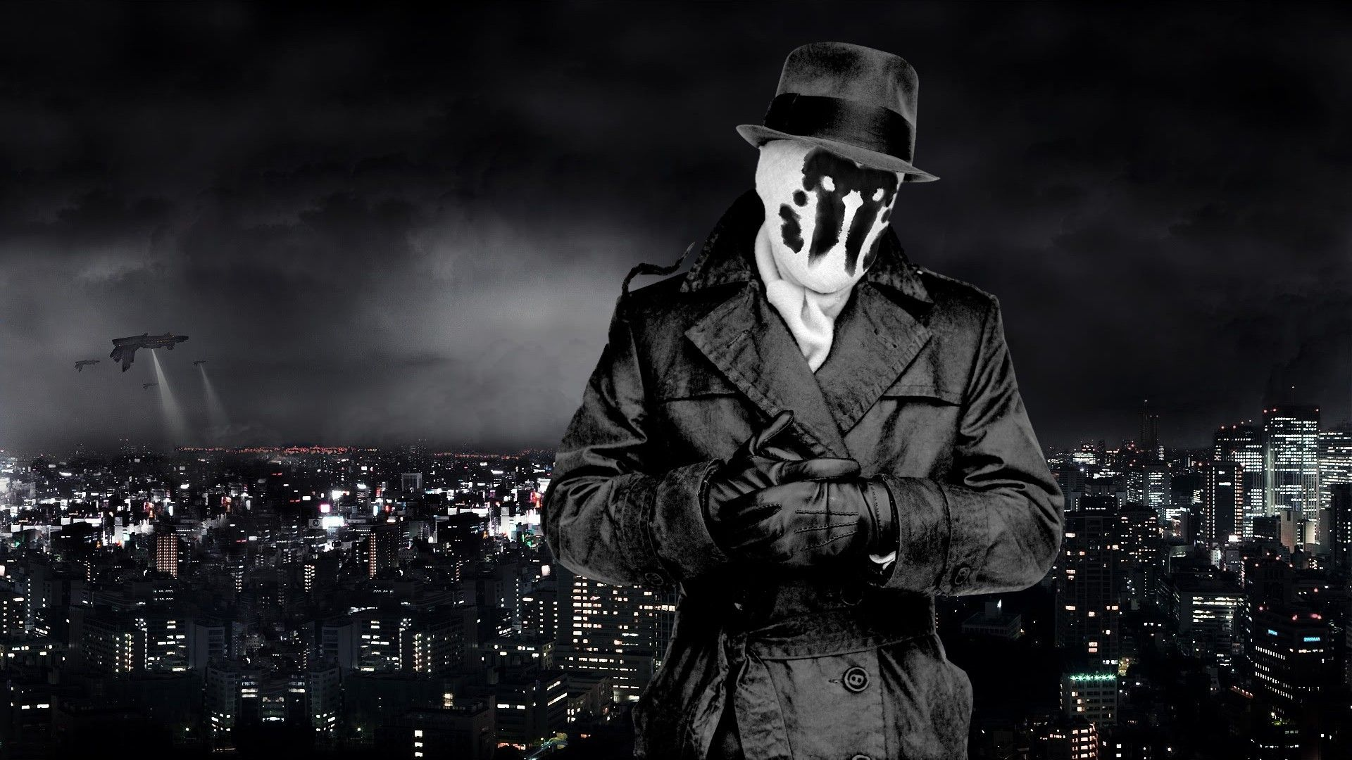 Download Hd Wallpapers Of 54130 Movies Watchmen Cityscape Rorschach Free Download High Quality And Widescreen Resolut Watchmen Rorschach Watchmen Rorschach