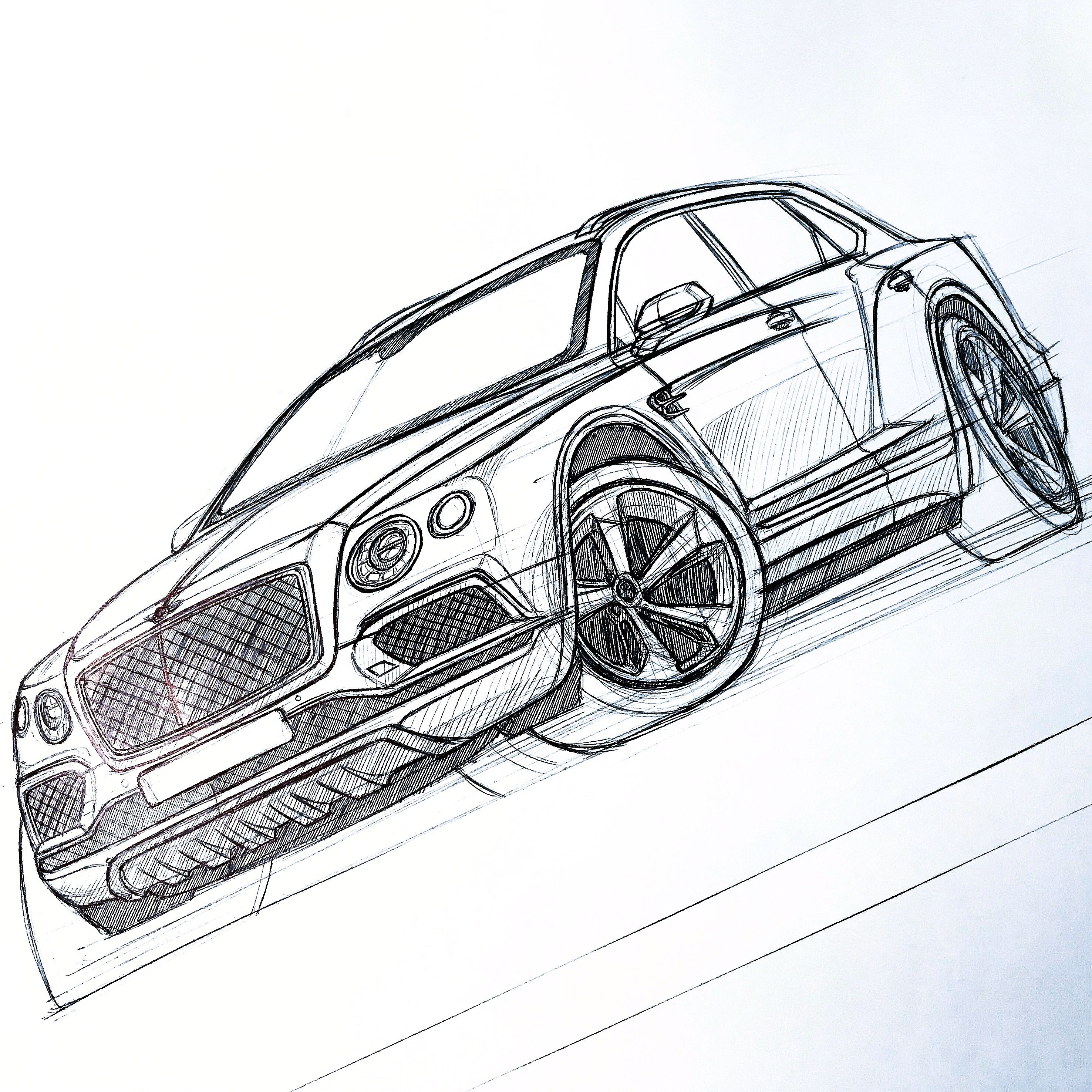 bentley bentayga sketch by baaam7991