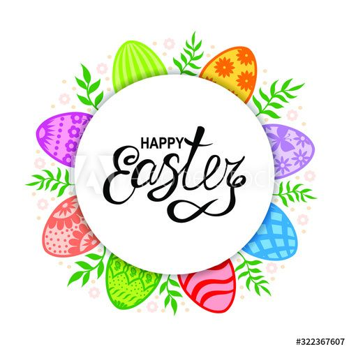 Vector illustrations of Easter card with decorative eggs and branches , #Sponsored, #Easter, #illustrations, #Vector, #card, #branches #Ad