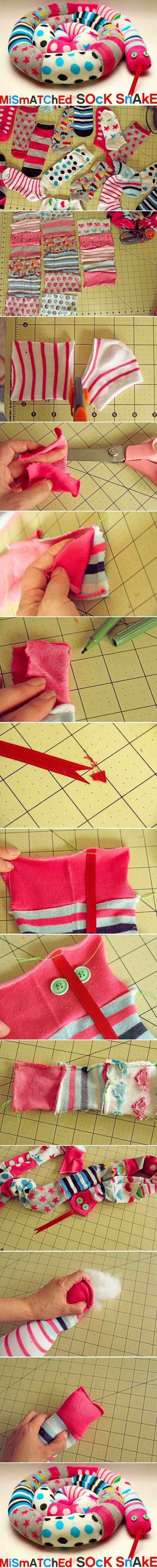 Plastik Kapaklardan Oyuncak Yılan Yapımı