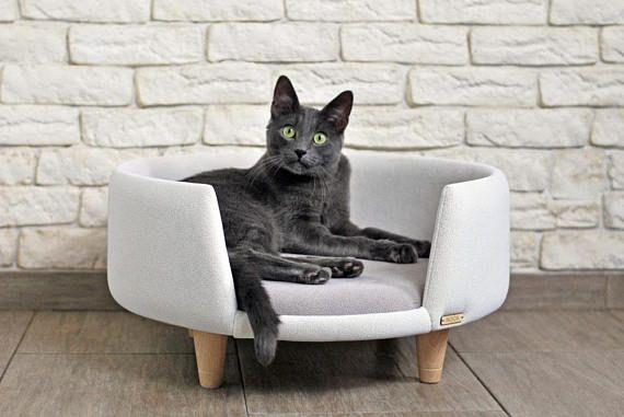 nook est un chat moderne fait main et un petit chien meuble id al pour le repos et plaisir. Black Bedroom Furniture Sets. Home Design Ideas