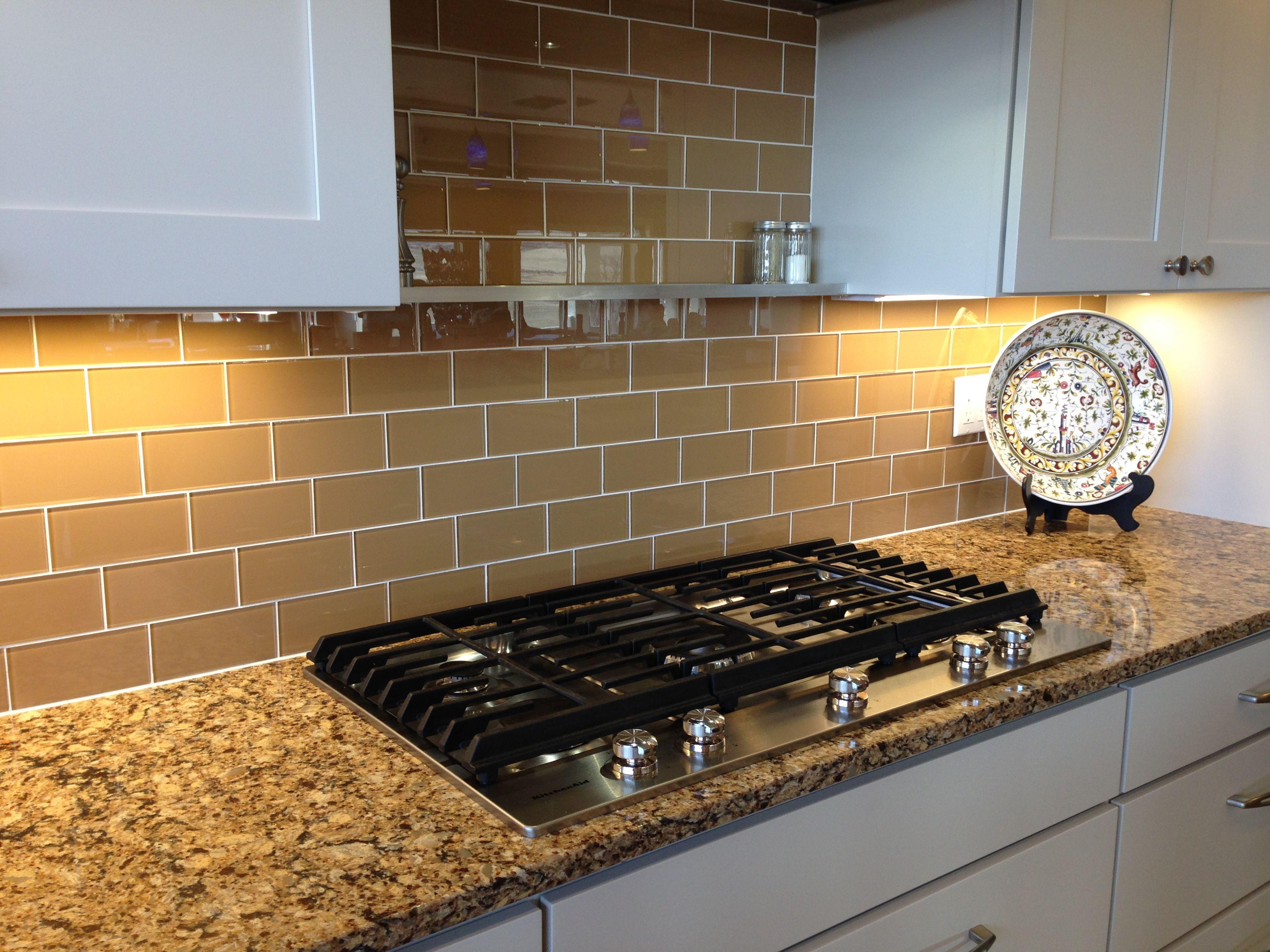 Sahara Glass Subway Tile Kitchen Tiles Luxury Kitchens Glass