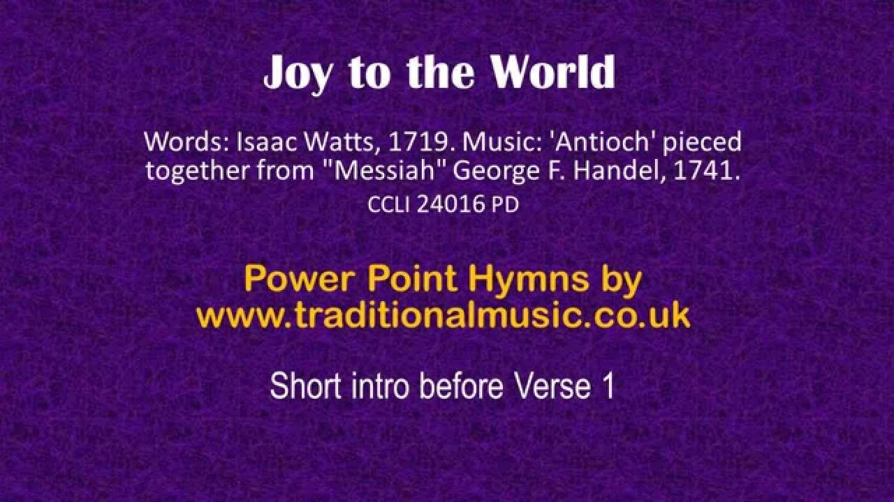 Christmas Carols Lyrics & Music Joy To The World | DE TODO UN POCO ...