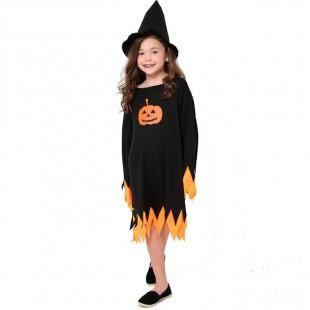 c3c2d6661 Fantasia de Feiticeira Abobora Maligna Com Chapeu Halloween Infantil - Fantasias  carol kb com as melhores