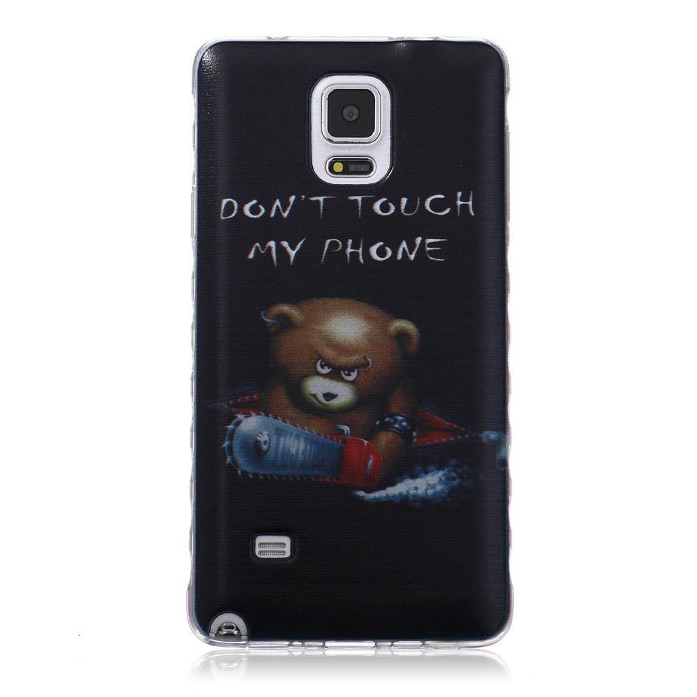 Samsung Case Galaxy Note 4 - Fashion Skid Clear Soft Silicone Case