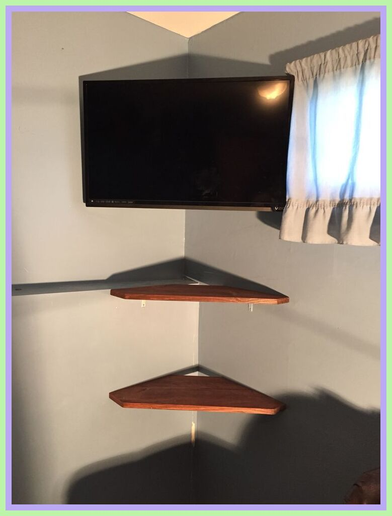106 Reference Of Floating Corner Tv Stand Diy In 2020 Wall Mounted Tv Corner Tv Mount Wall Tv Stand
