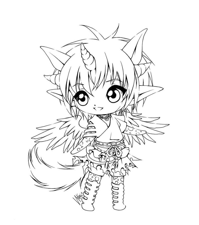 anime coloring pages deviantart outgoing - photo#37