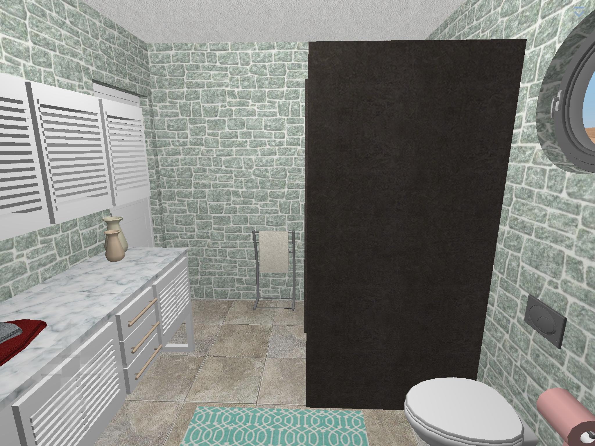 Plan 20D: suite salle de bain Logiciel : Home Design 20D Gold