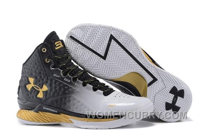 f2abb878ac9a Under Armour UA Curry One (1) MVP White Black-Gold New Arrival in ...