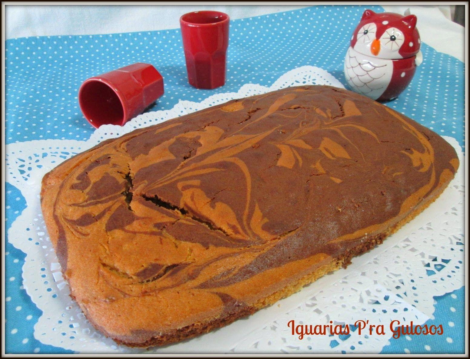 Iguarias p'ra Gulosos: Bolo Marmoreado de Chocolate com Manteiga de Amend...