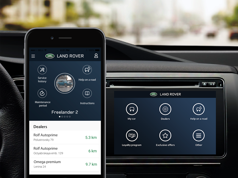 Land Rover app adaptation by Heads and Hands Land rover