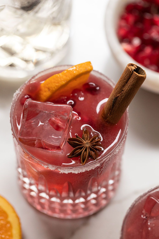 Cinnamon Pomegranate Margarita Sugar And Charm Recipe In 2020 Pomegranate Margarita Cinnamon Simple Syrup Make Simple Syrup