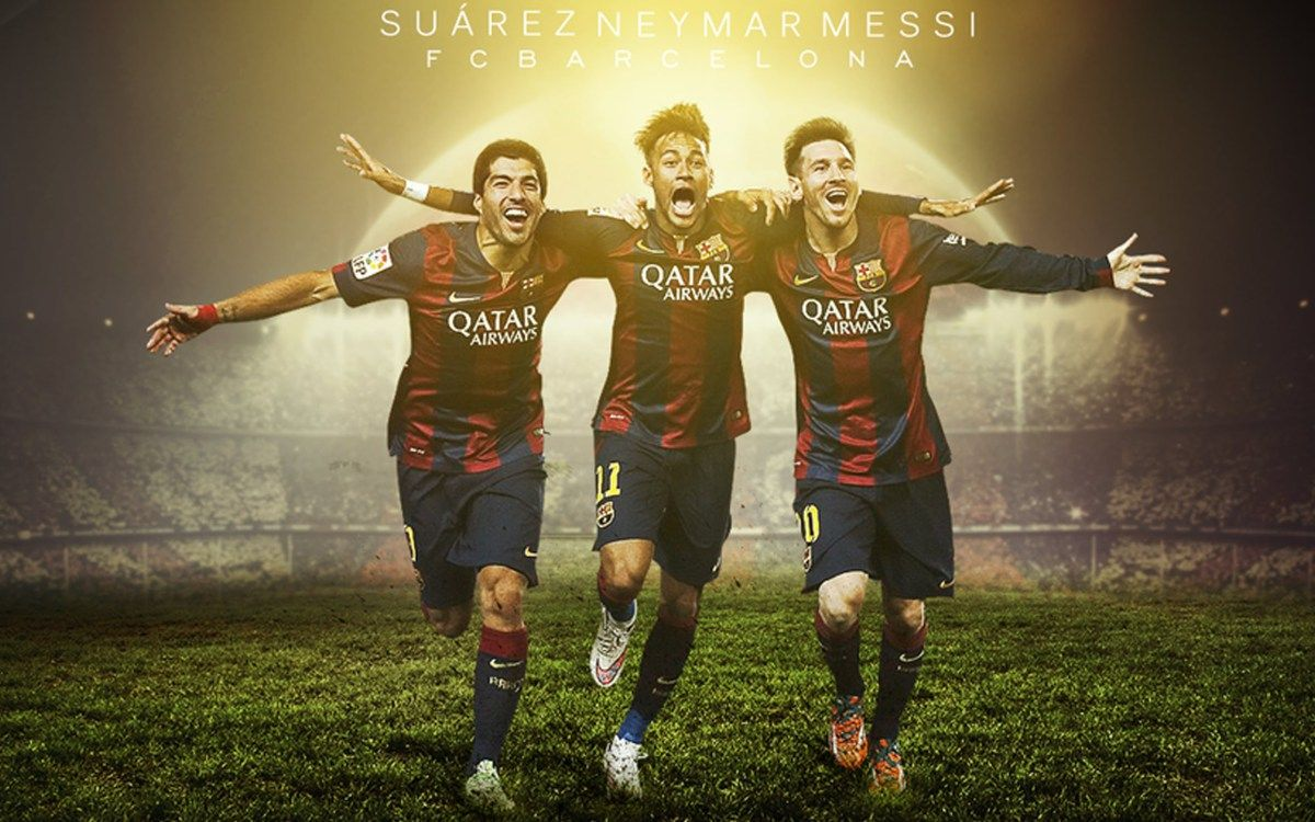 Fc Barcelona Neymar Messi Suarez Wallpaper Hd Sports Pinterest