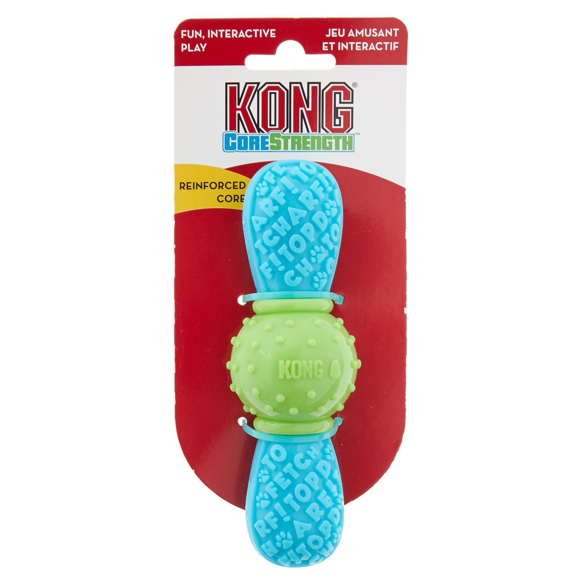 Kong Corestrength Bow Tie Dog Toy Size Small Medium Blue Green