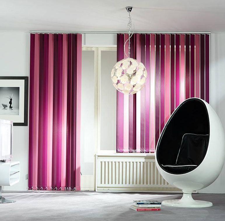 purple pink blinds vertical shapde for modern living room | Home ...