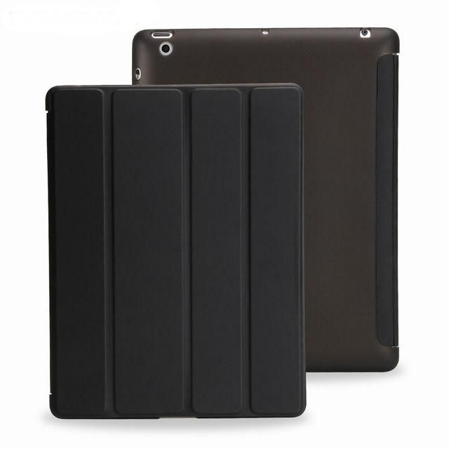 Apple ipad 2, 3, 4 Case Auto Sleep /Wake Up Flip Vegan Leather Cover - Smart Stand Holder Case
