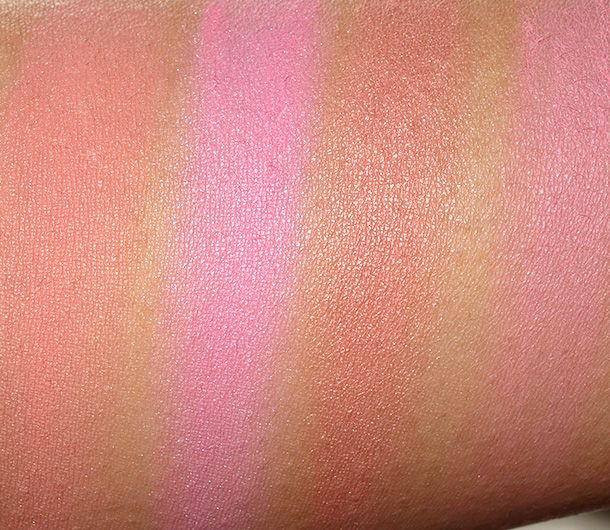 Nyx High Definition Blush Swatches From The Left Coraline Baby