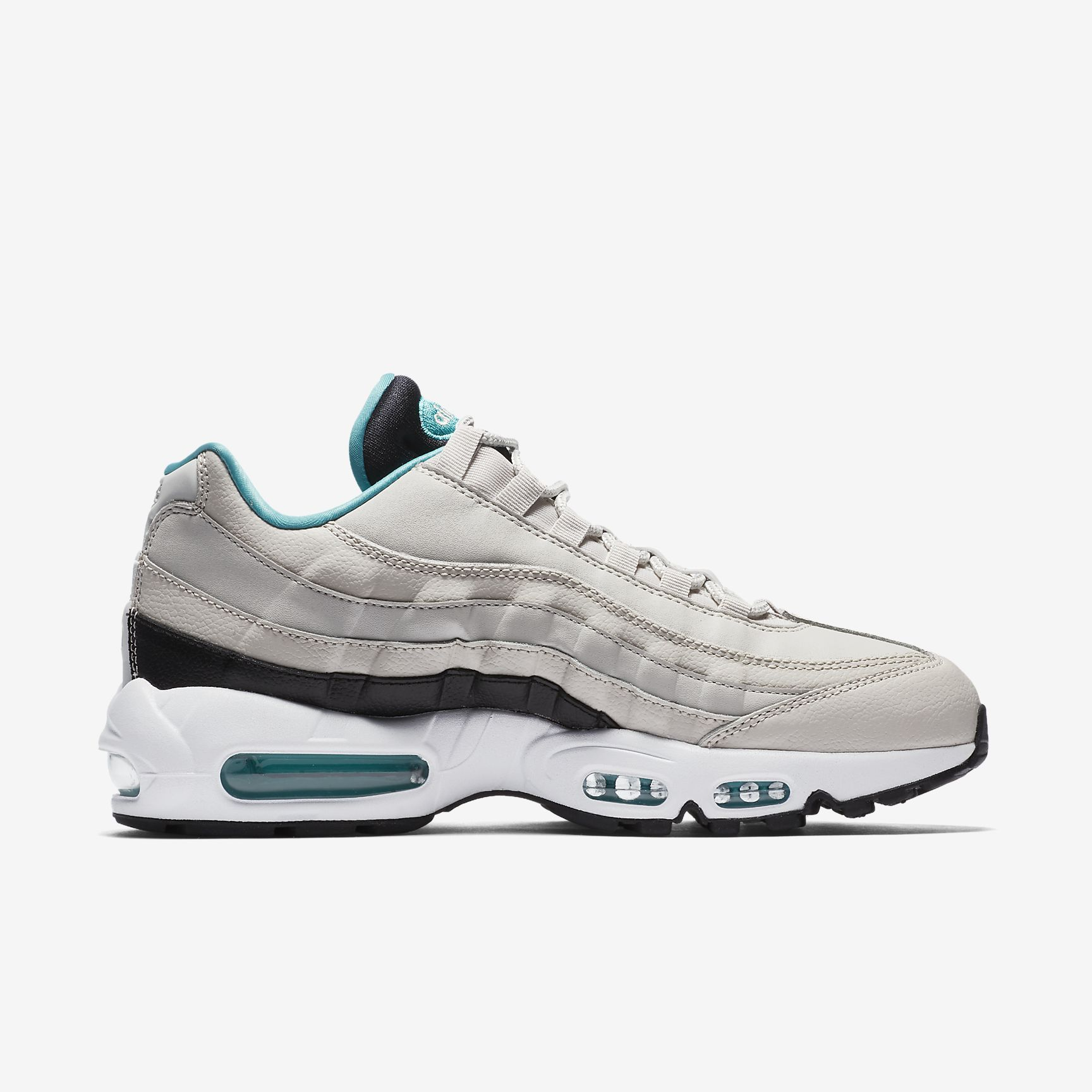 reputable site 12d25 f83af Chaussures Homme AIR MAX 95 Essential Beige clair Noir Blanc Turquoise Sport