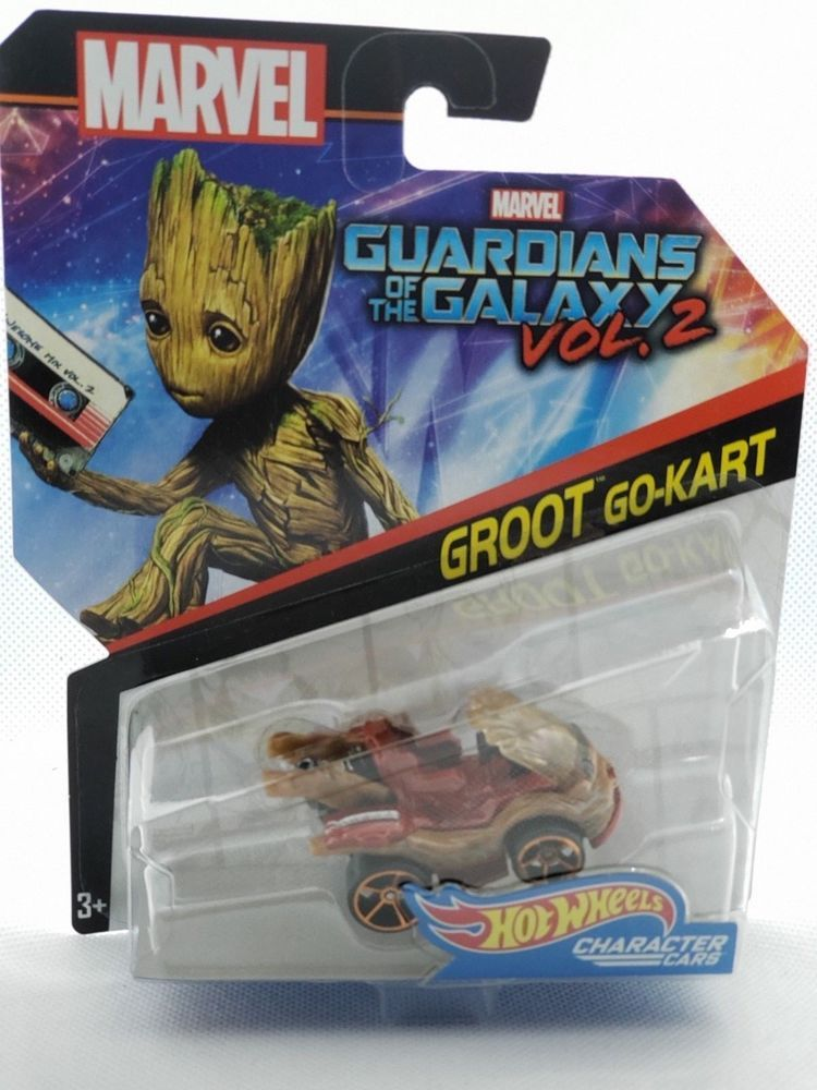 Hot Wheels Guardians of the Galaxy Vol 2 Groot Go Kart Marvel Character Car
