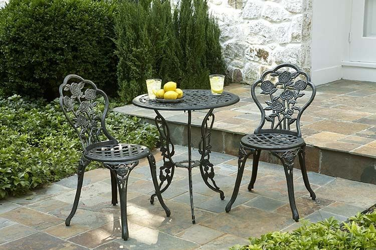 Cast Iron Patio Set Table Chairs Garden Furniture Outdoor