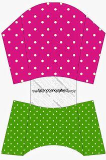 Poa rosado y verde - Kit completo con los marcos para las invitaciones, las etiquetas de los snacks, souvenirs y fotos!   Hacer Nuestro partido