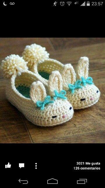 babuchas conejitos   tejido   Pinterest   Conejo y Tejido