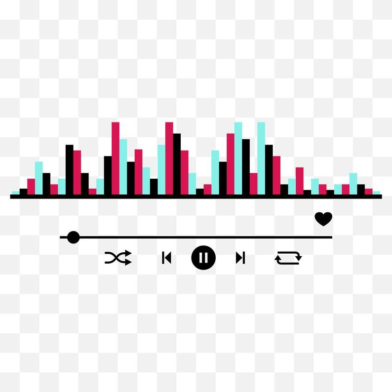 Tik Tok Equalizer Svg Png Eps Ai Music Player Vector Etsy Png Green Screen Video Backgrounds Sticker Art