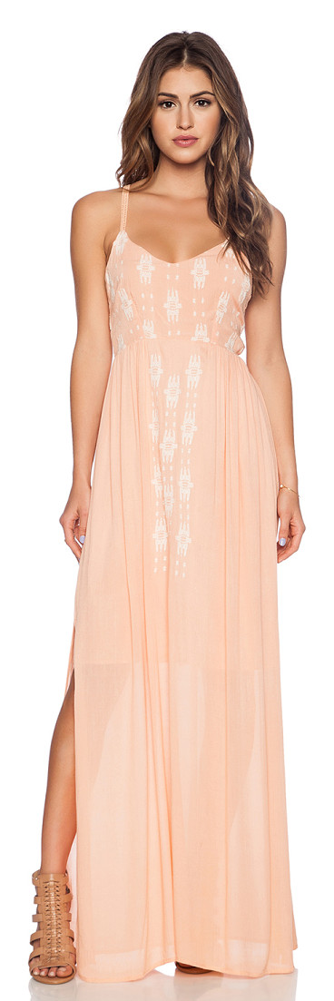 LAMADE Mara embroidered maxi dress found on Nudevotion