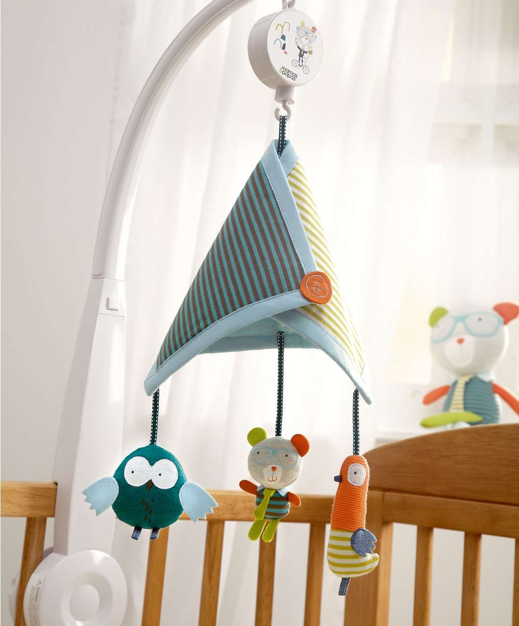 Pixie \u0026 Finch - Musical Cot Mobile - Finch - Cot Mobiles - Mamas ...