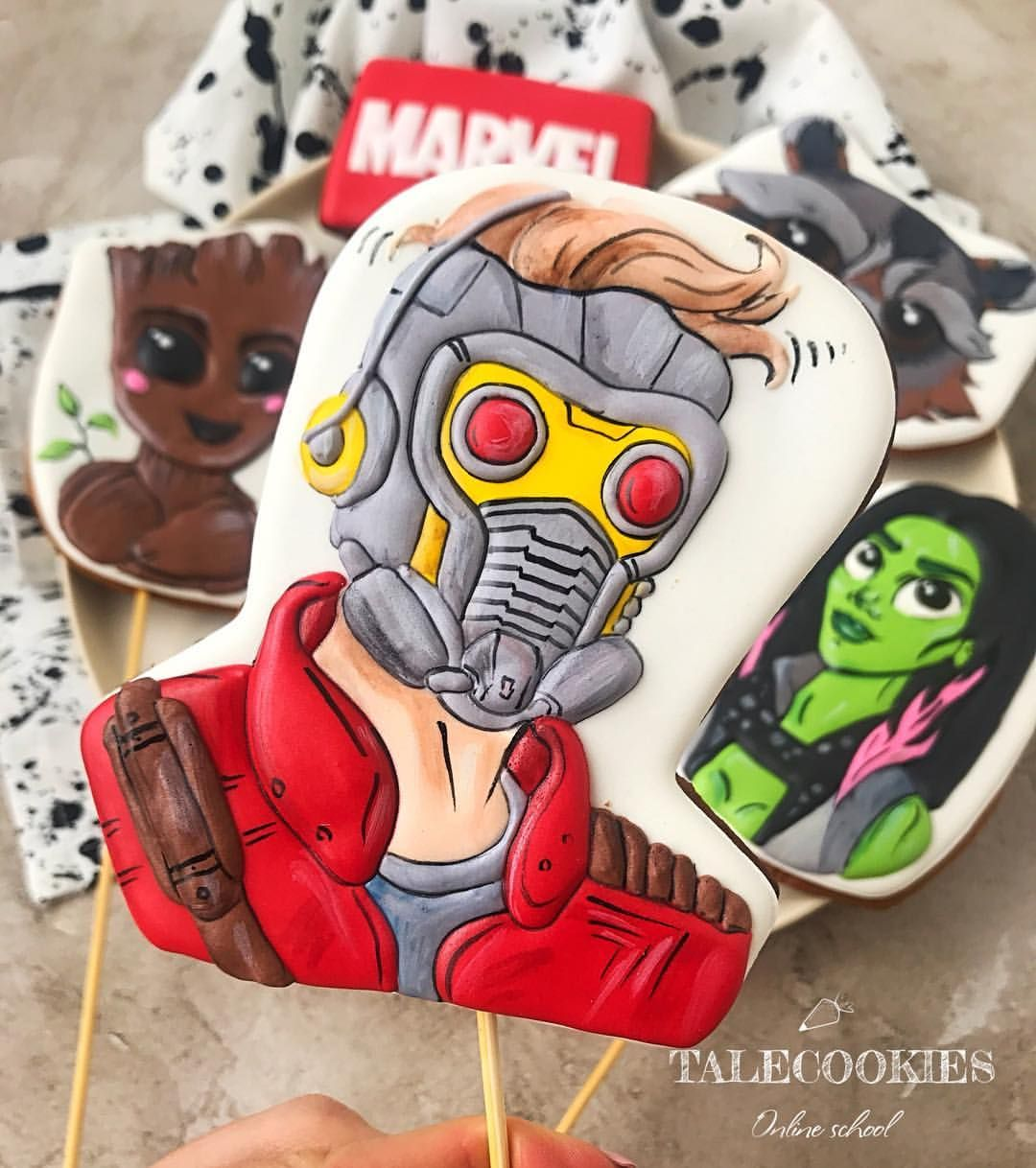 Guardians Of The Galaxy Cookies Galaxy Cookies Guardians Of The Galaxy Cookie Decorating
