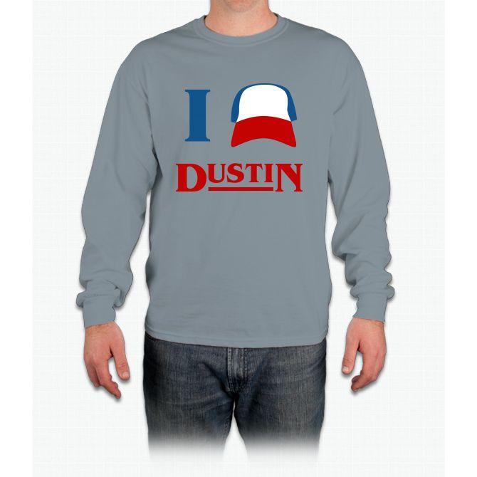 I Love Dustin Stranger Things Long Sleeve T-Shirt