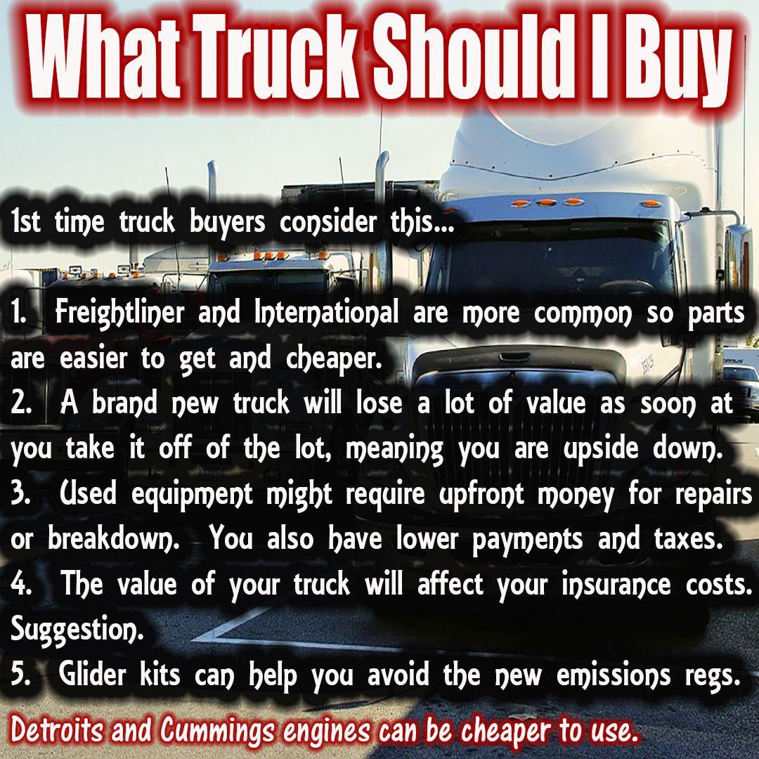 What Truck Should I Buy Truck driving jobs, Trucks, New