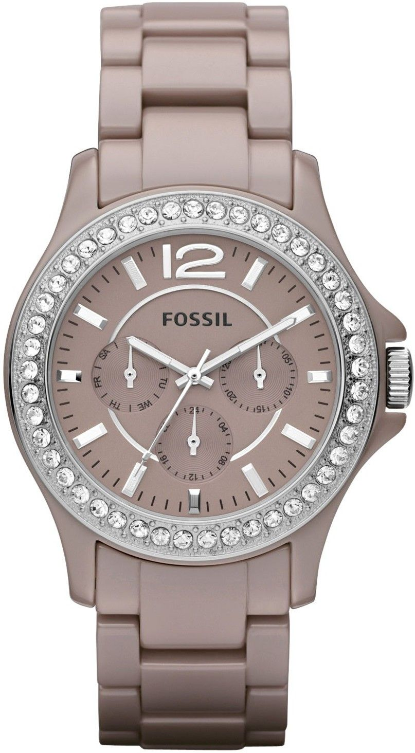 Fossil Riley Fossil Riley Ceramic Watch Antique Pearl Ce1063 Bling Bling