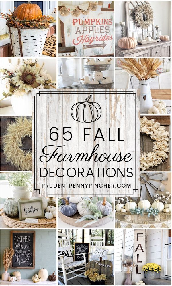 65 Farmhouse Fall Decor Ideas #falldecor