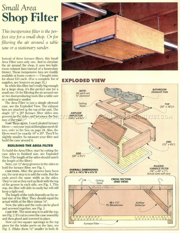 Diy Shop Air Cleaner Dust Collection Compressor Plumbing Diy Shops Woodworking Shop Tool Room