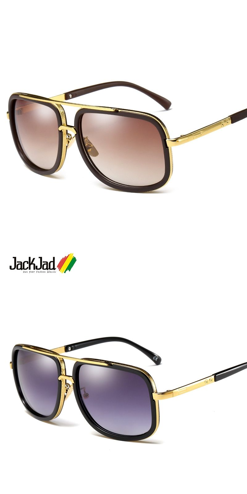 d48762f257 JackJad 2018 Fashion Trend Mach One Adam Lambert Aviator Sunglasses Vintage  Brand Design Sun Glasses Men