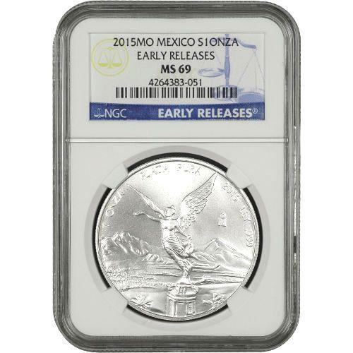 BU 2015 1//2 oz Mexico Silver Libertad Coin