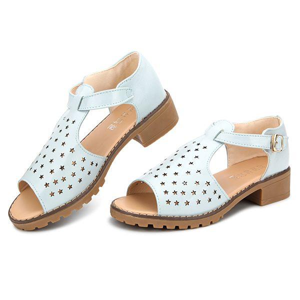 b4cfcf118d92 Sale 23% (20.77 ) - Women Summer Strap Peep Toe Beach Sandals Star ...