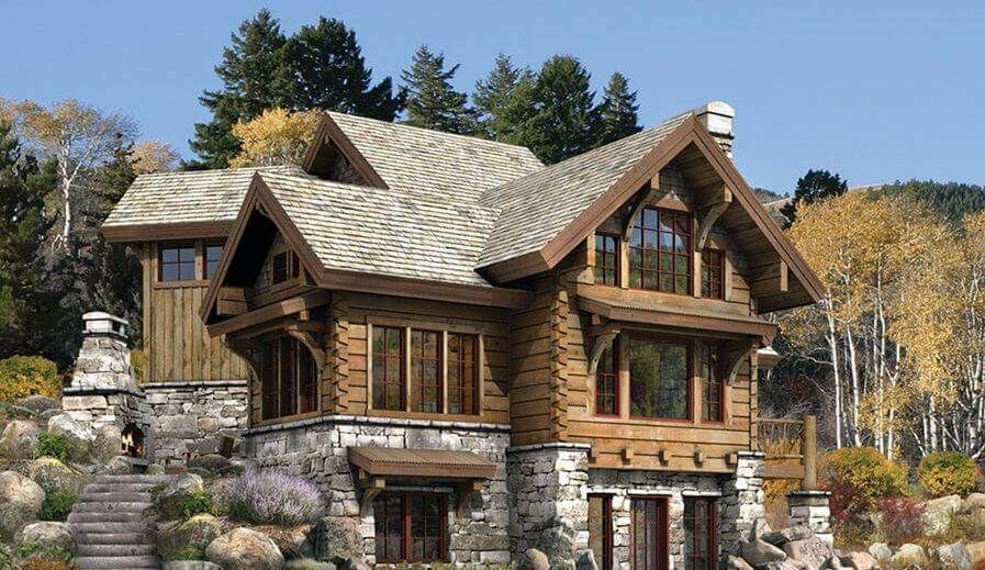 Best Cozy And Beautiful Wooden House Design Ideas Cottage House Exterior Stone House Plans Country House Design
