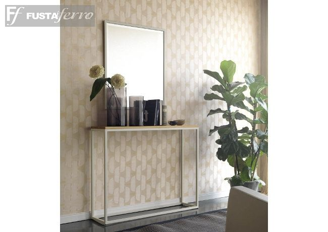 Recibidor. Consola de hierro y madera de www.fustaiferro.com ...