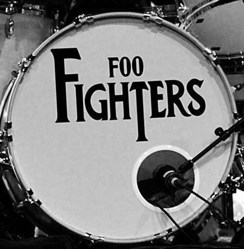 Foo Fighters bass drum thumping you like a heartbeat