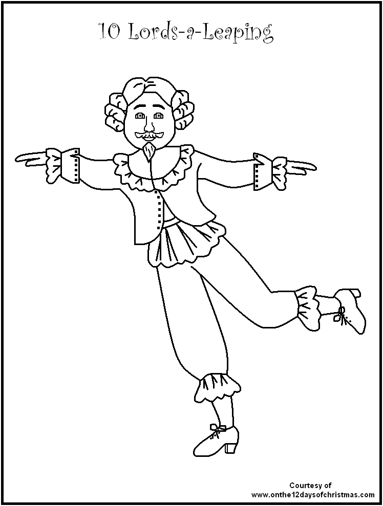 12 days of christmas Colouring Pages (page 3) | 12 days | Pinterest ...
