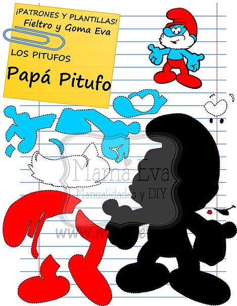 Plantillas personajes dibujos animados 80\'s | fomi y fieltro ...
