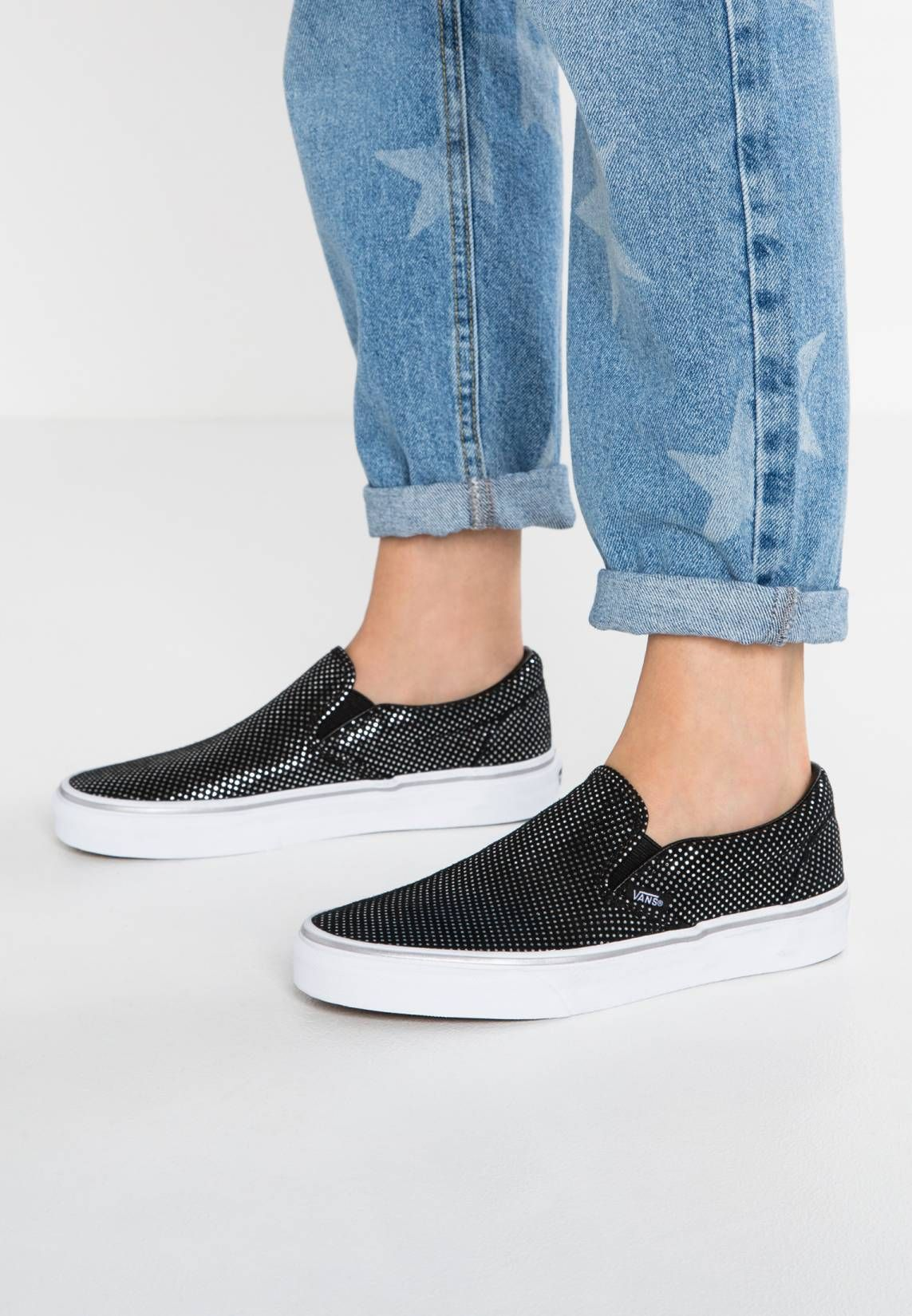 d18fb516b0 CLASSIC - Slip-ons - metallic silver black. upper material suede.  detail elasticated. shoe toecap round. shoe fastener slip on. Cover  sole textile.