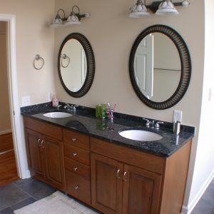 Cherry Bathroom Vanity With Black Granite Top Oak Bathroom Vanity Double Sink Bathroom Diy Bathroom Vanity